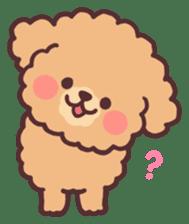 fluffy toy poodle 3set sticker #7274422