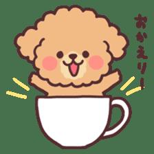 fluffy toy poodle 3set sticker #7274425