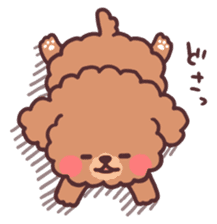 fluffy toy poodle 3set sticker #7274426