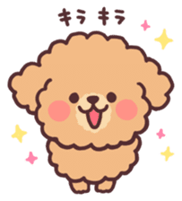fluffy toy poodle 3set sticker #7274428
