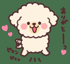 fluffy toy poodle 3set sticker #7274430