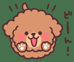 fluffy toy poodle 3set sticker #7274432