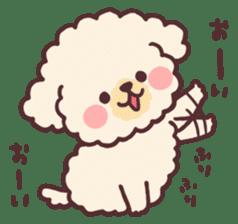 fluffy toy poodle 3set sticker #7274433