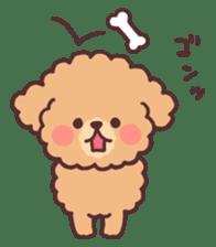fluffy toy poodle 3set sticker #7274434