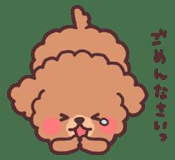 fluffy toy poodle 3set sticker #7274435