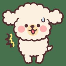 fluffy toy poodle 3set sticker #7274436