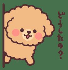 fluffy toy poodle 3set sticker #7274437