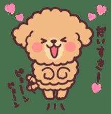 fluffy toy poodle 3set sticker #7274440