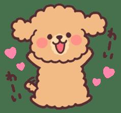 fluffy toy poodle 3set sticker #7274446