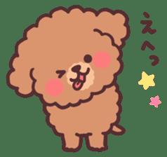 fluffy toy poodle 3set sticker #7274447