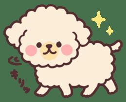 fluffy toy poodle 3set sticker #7274448