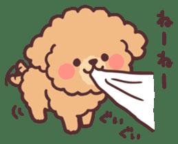 fluffy toy poodle 3set sticker #7274449