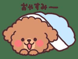 fluffy toy poodle 3set sticker #7274450