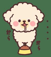 fluffy toy poodle 3set sticker #7274451