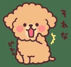 fluffy toy poodle 3set sticker #7274452