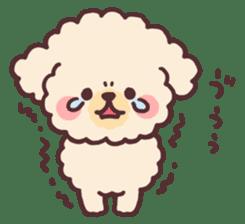 fluffy toy poodle 3set sticker #7274454