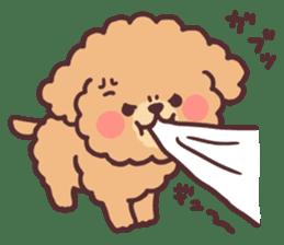 fluffy toy poodle 3set sticker #7274455
