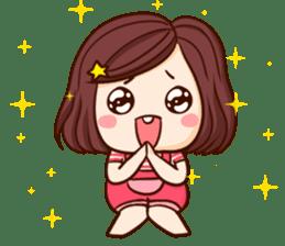TuaGom : Choompoo pink [Eng] sticker #7278899