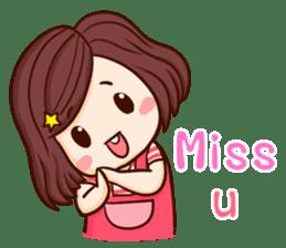 TuaGom : Choompoo pink [Eng] sticker #7278912
