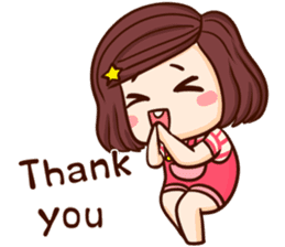 TuaGom : Choompoo pink [Eng] sticker #7278933