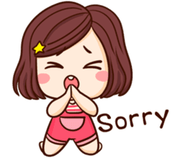 TuaGom : Choompoo pink [Eng] sticker #7278934