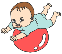The seven-month-old cute Baby! sticker #7281368