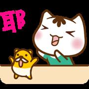 สติ๊กเกอร์ไลน์ Po-chan & Match Mouse 3