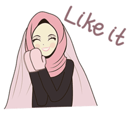 lovely Muslimah hijab lover sticker #7288887