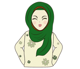 lovely Muslimah hijab lover sticker #7288891