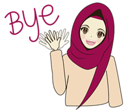 lovely Muslimah hijab lover sticker #7288896