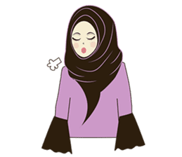 lovely Muslimah hijab lover sticker #7288899