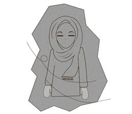 lovely Muslimah hijab lover sticker #7288901
