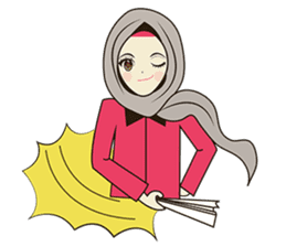 lovely Muslimah hijab lover sticker #7288902