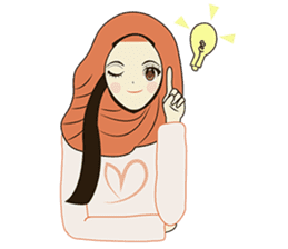 lovely Muslimah hijab lover sticker #7288904