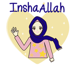 lovely Muslimah hijab lover sticker #7288906