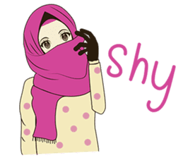 lovely Muslimah hijab lover sticker #7288908