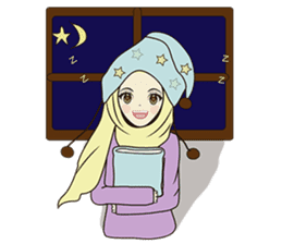 lovely Muslimah hijab lover sticker #7288910