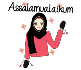 lovely Muslimah hijab lover sticker #7288912