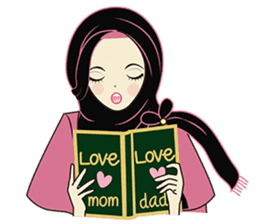 lovely Muslimah hijab lover sticker #7288918