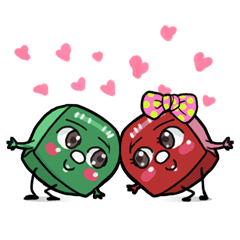 Mr. Green & Miss Red