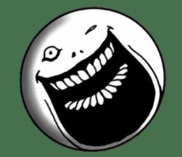 Round person sticker #7298447