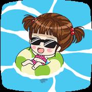 สติ๊กเกอร์ไลน์ LUNA: Hello Summer