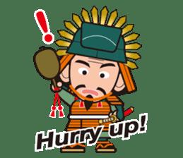 Sengoku Busho/Samurai All-star Cast sticker #7310101