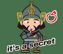 Sengoku Busho/Samurai All-star Cast sticker #7310106