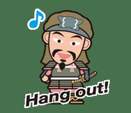Sengoku Busho/Samurai All-star Cast sticker #7310112
