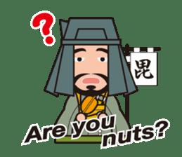Sengoku Busho/Samurai All-star Cast sticker #7310120