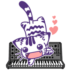 Midifan's mascot Meowlody sticker #7314744