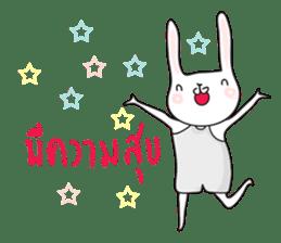Thai a rabbit sticker #7330435