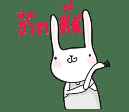 Thai a rabbit sticker #7330453