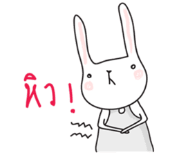 Thai a rabbit sticker #7330460